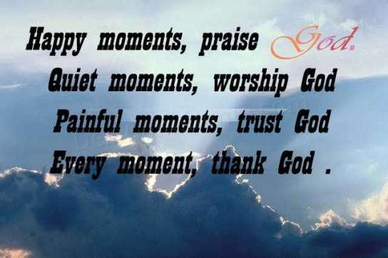 Happy Moments Praise God