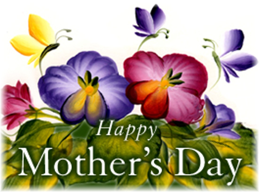 Happy Mother's Day Flower Graphic for Facebook Sharing