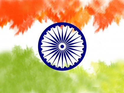 Happy Republic Day Indian Flag