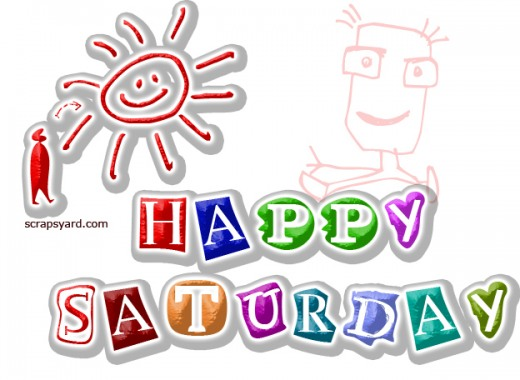 Happy Saturday Colourful Graphic for Fb Share