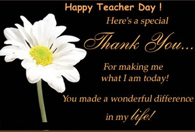 Happy Teacher Day Here's a Special thank You…