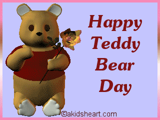 Happy Teddy bear Day Graphic for Friendster