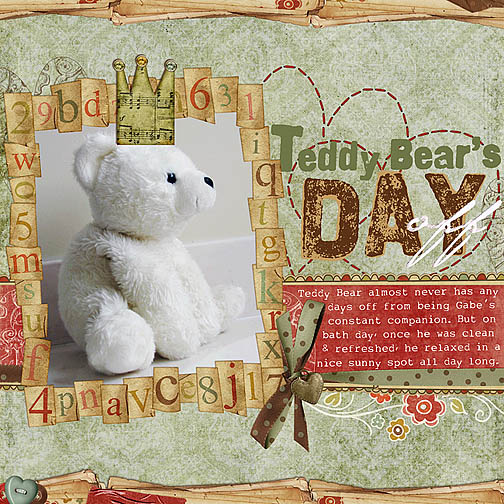 Happy Teddy Bear Day Scrap
