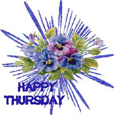 Happy Thursday Flowers Graphic