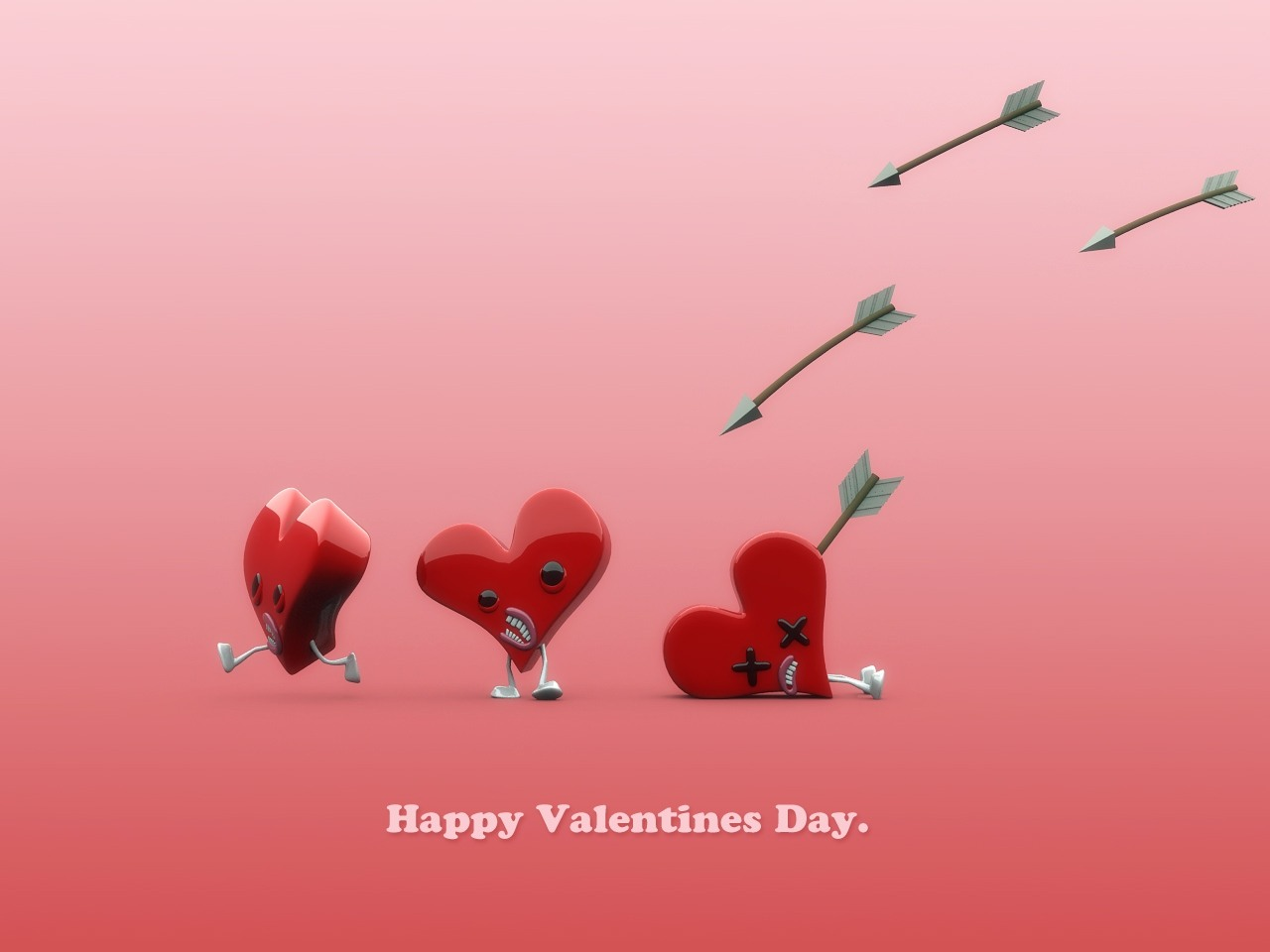 Happy Valentines Day heart Arrow Picture