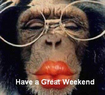 Have a Great Weekend Monkey kiss Graphic