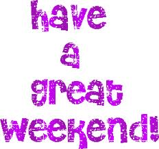 Have a Great Weekend Purple Graphic for Fb SHare