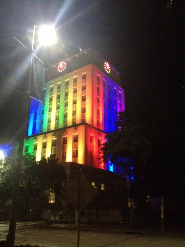 Houston mayor is gay, and this was city hall last night. Funny Things Picture