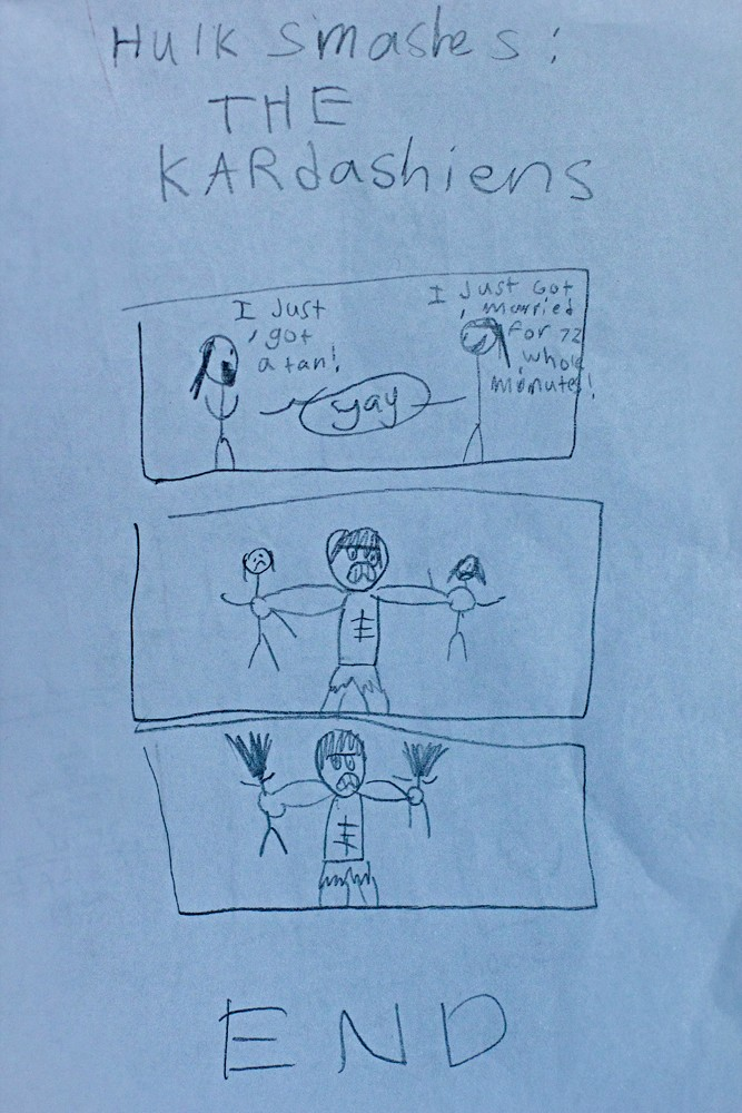 Hulk Smashes the Kardashians  by my 10-year old son Funny Things picture