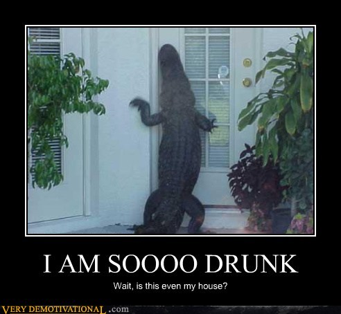 I am soooo drunk Funny Crocodile Picture