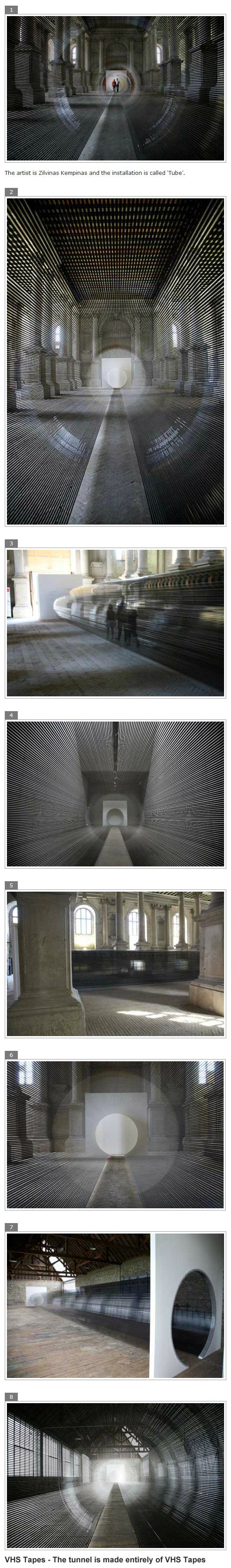 I bet you can't guess that this tunnel is made of.. Funny Amazing Foto