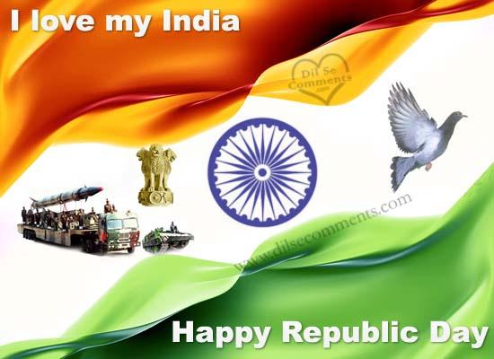 I Love My India Happy Republic Day