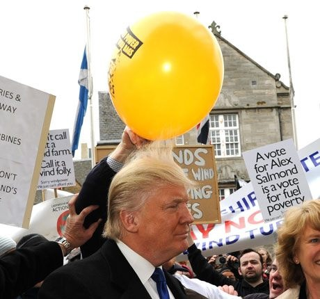 If you had a balloon why wouldnt you do this to Donald Trump Funny Image