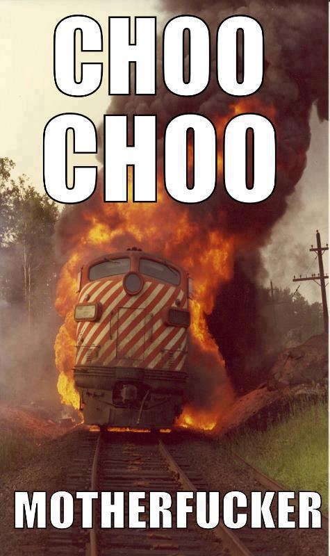 Im going off the rails on a crazy train! Funny Foto