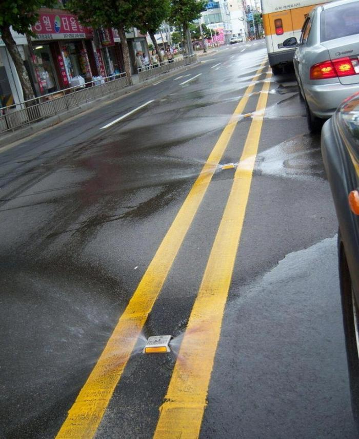 In Korea, streets clean themselves! Funny Picture