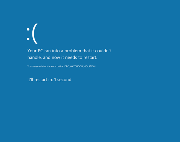 In windows 8 the blue screen of death isn t that scary for Window quoter