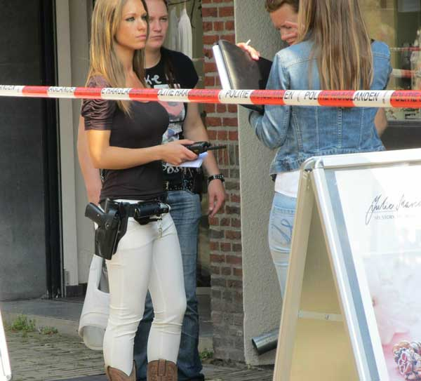Incredibly Photogenic Dutch Cop Funny Women Image