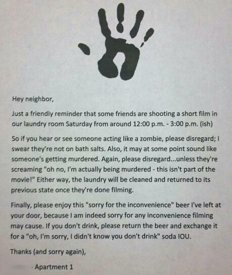It Seemed Like The Neighborly Thing To Do Funny Things Image