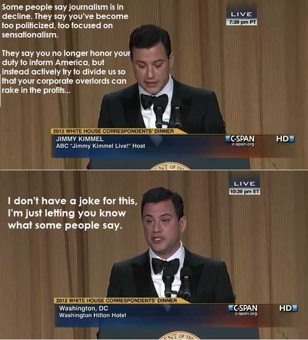 Jimmy Kimmel on the press Funny Picture