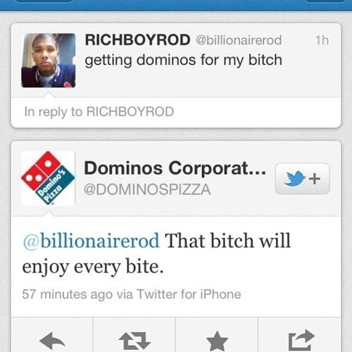 Just getting some Domino's.. Funny Chat Picture