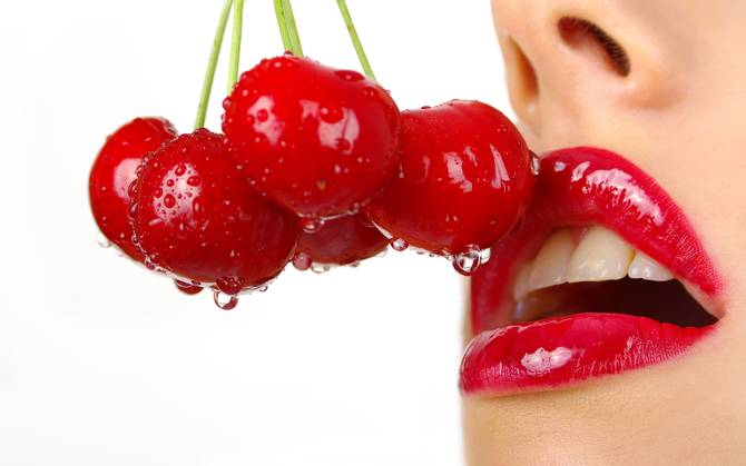 Lips with Cherry Graphic