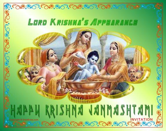 Lord Krishna's Apearance Happy Krishna Janmashtami