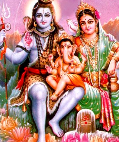 Lord Shiva with His Family