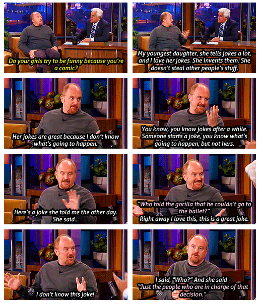 Louis CK On The Tonight Show Funny Men Graphic