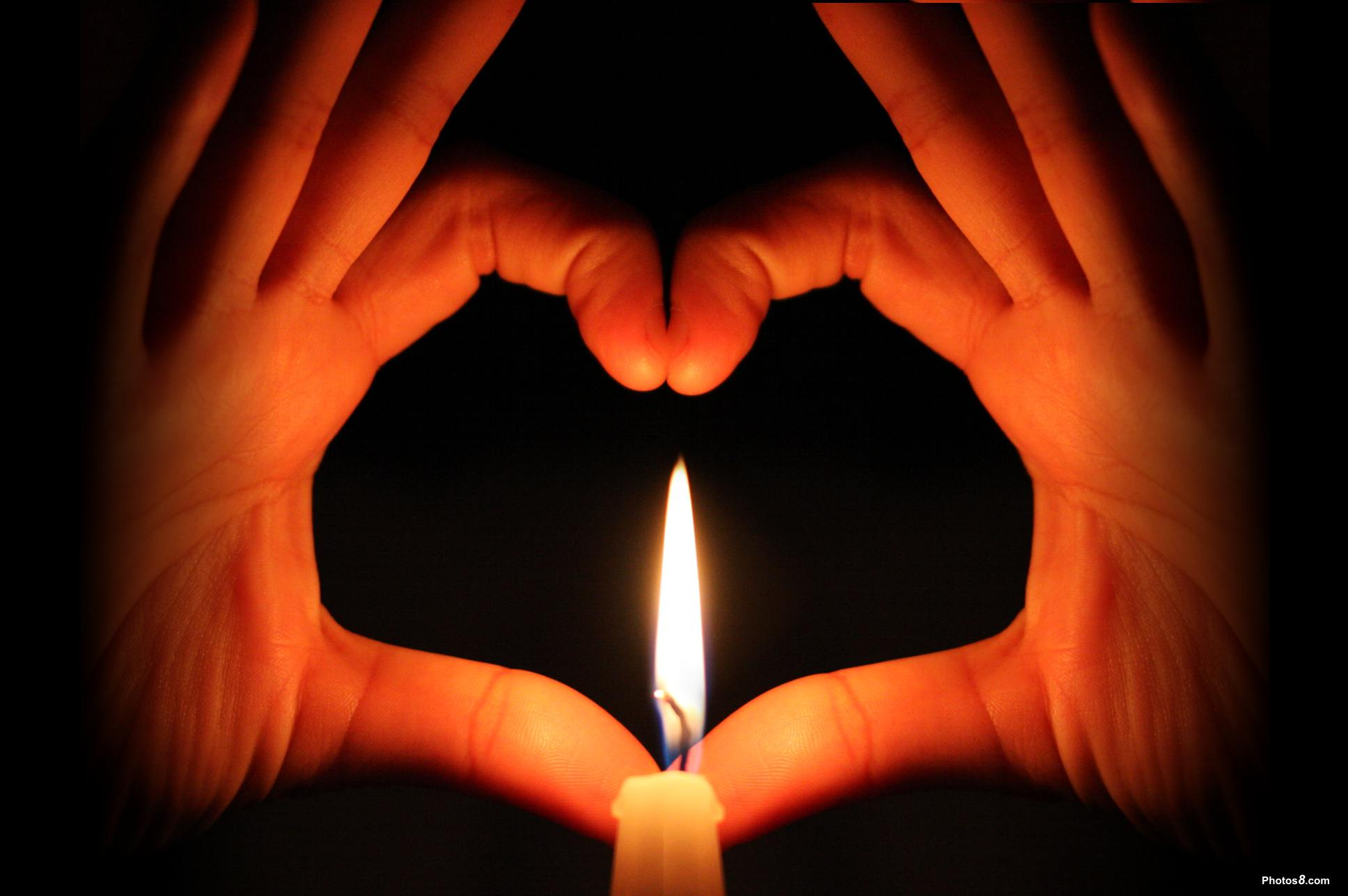 Love Heart Candle Picture