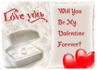 Love you will you be My Valentine Forever