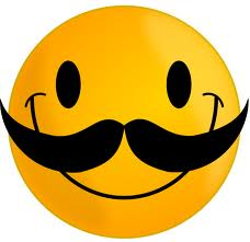 Moustach Smiley for Facebook Sharing