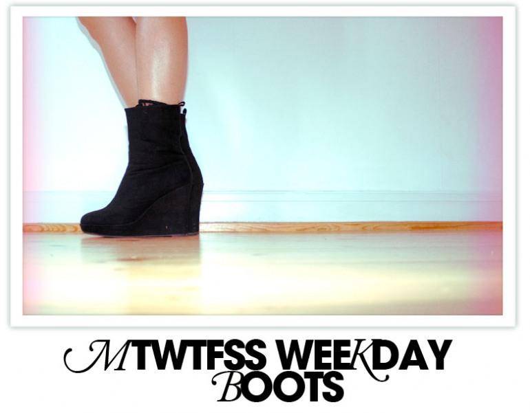 Mtwtfss Weekend Boots