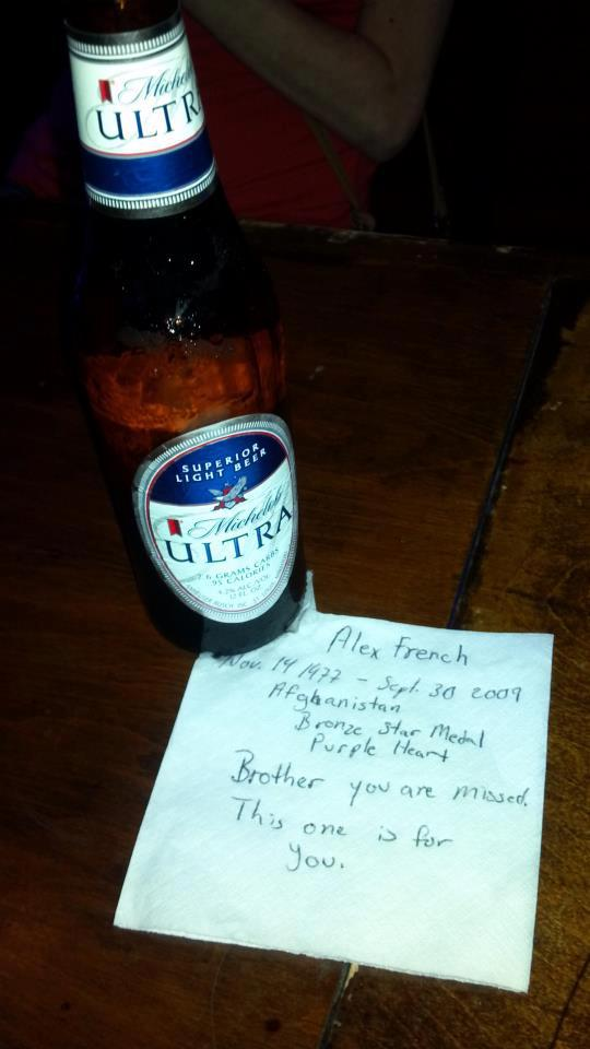 My friend said that a guy came into her work, bought two beers, asked for a pen, Funny Quote Picture