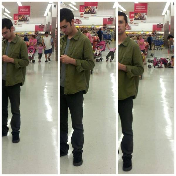 My girlfriend randomly took a couple pictures of me at the grocery store. Funny Men Picture