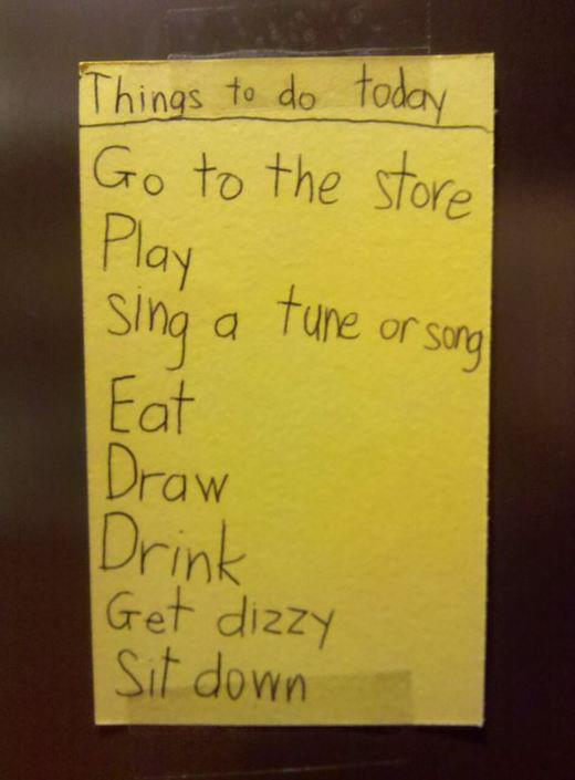 My son has a long to do list today! FUnny Things Picture