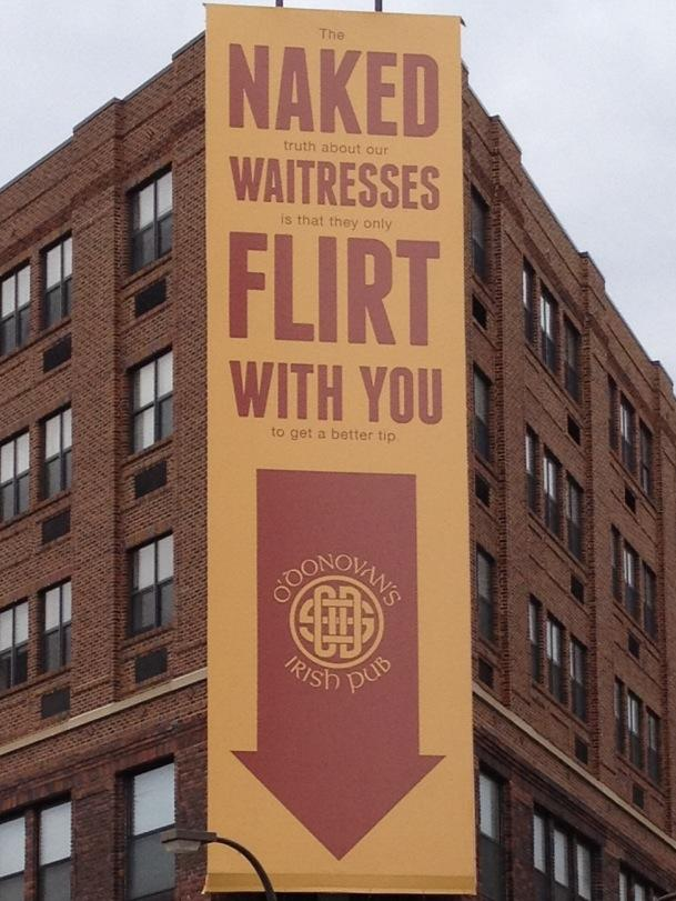 Naked waitresses flirt with you Funny Place Picture
