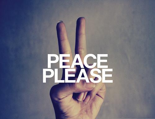 Peace Please Finger Picture