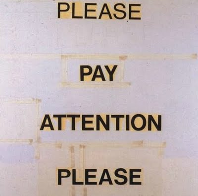Please Pay Attention Please