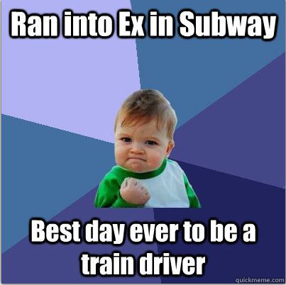 Ran into Ex in Subway… Funny Baby Picture