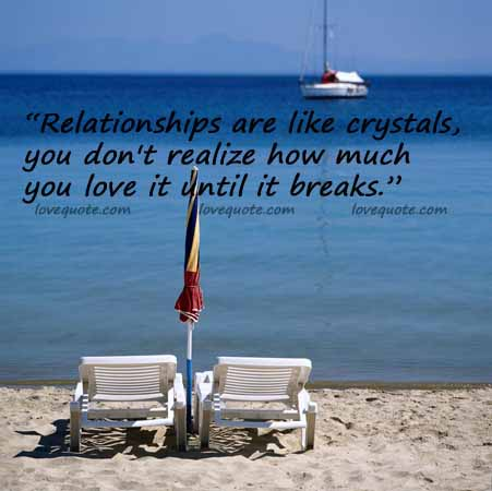 Relationships are Like Crystals