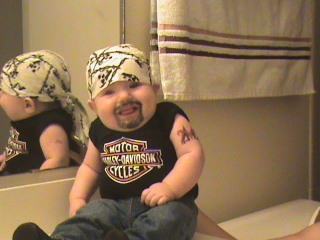 Ride till we die. Funny Baby Undertaker Image