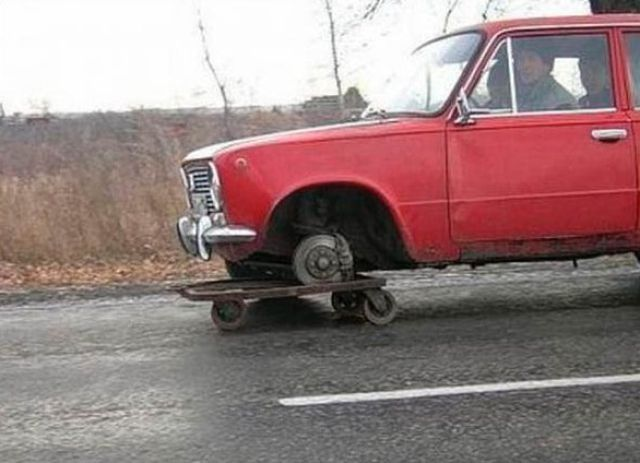 Russian Car Repair Funny Car Picture