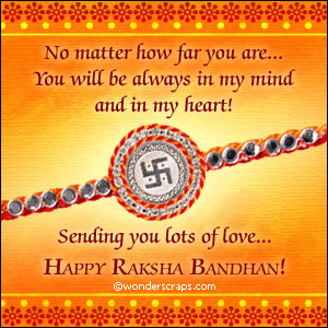 Sending you lots of Love… Happy Raksha Bandhan !