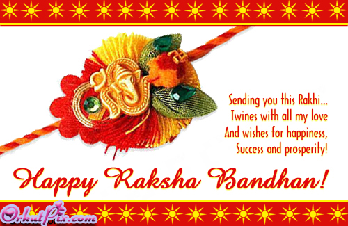 Sending you this Rakhi…