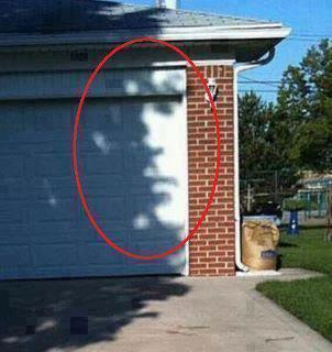 Shadows of tree look like a human face Funny Face Picture