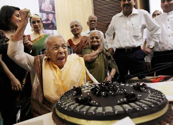 She turned 100 last night Funny picture