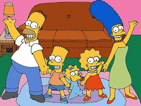 Simpons Dancing with his Family