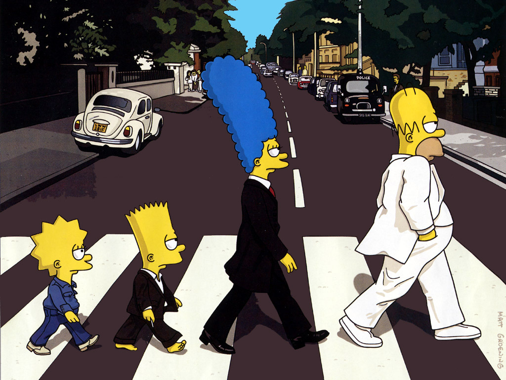 Simpons Passing Through Road
