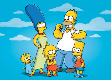Simpsons with His Small Family