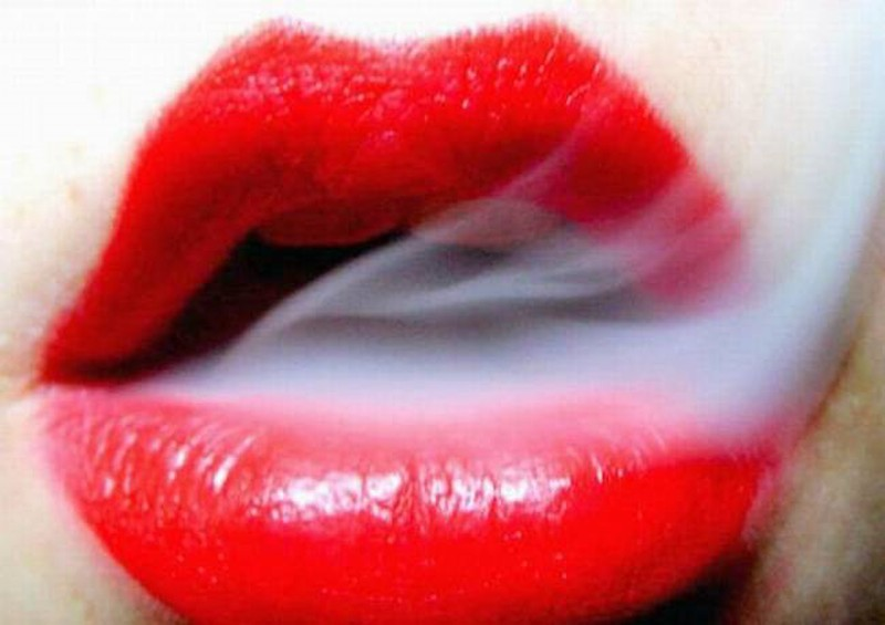Smoking Lips Picture